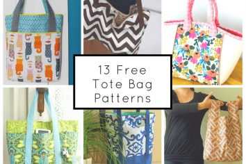 13 Free Tote Bag Patterns You Can Sew Up Today