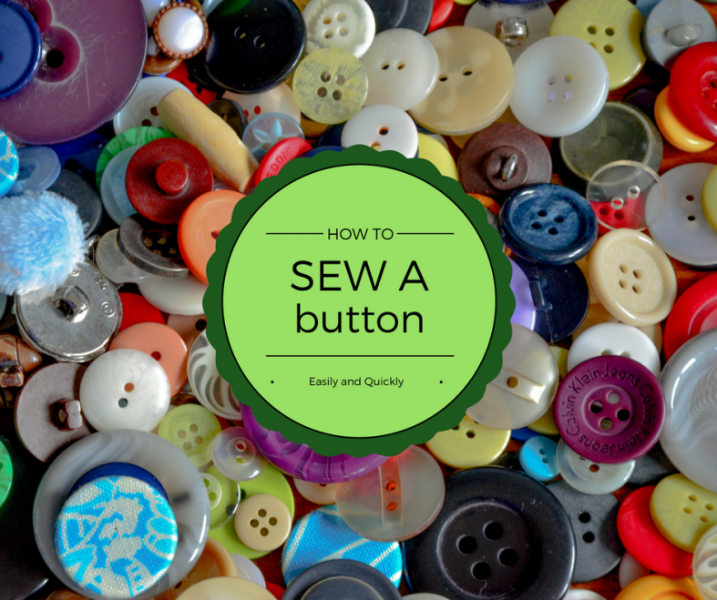 How to Sew a Button: Flat and Shank Buttons