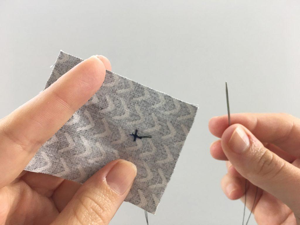 A stitched X
