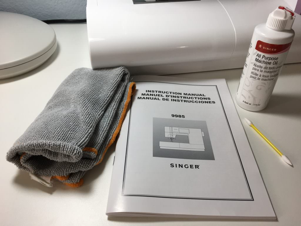 Supplies needed to oil a sewing machine