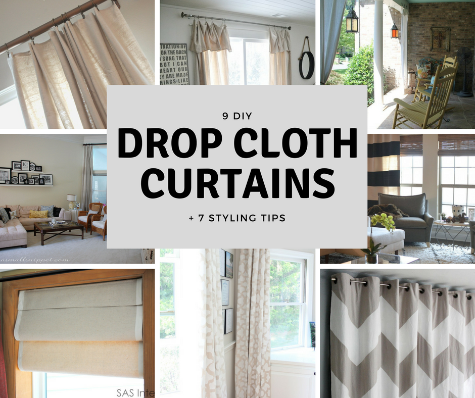 9 Diy Drop Cloth Curtains And 7 Styling Tips Ada Mae Designs