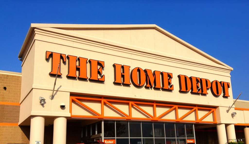 The front of Home Depot