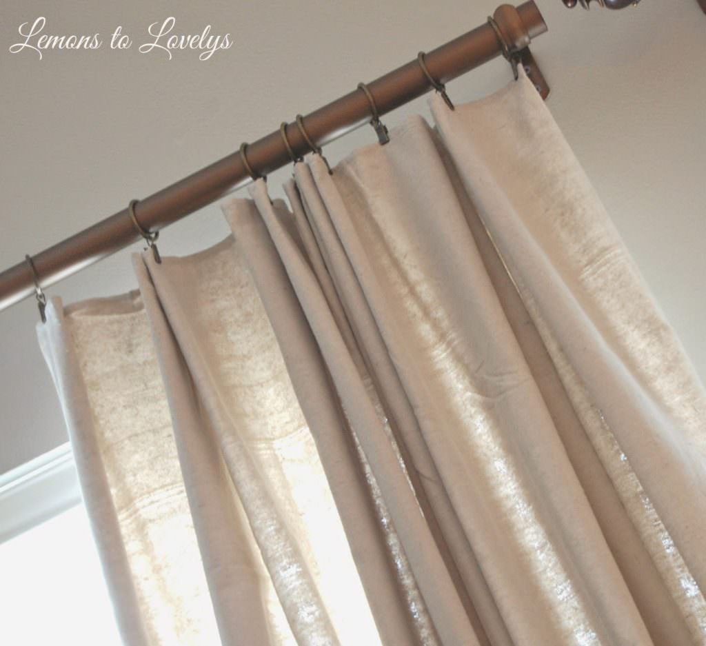 Adding pleats to drop cloth curtains
