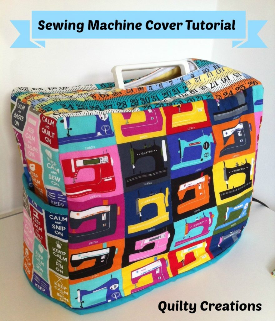 A colorful sewing machine cover