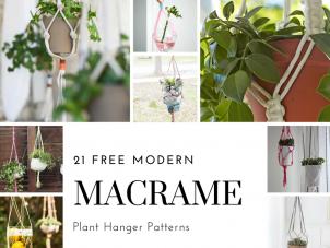 21 Free Macrame Plant Hanger Patterns