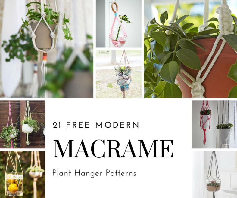 Witty image in free printable macrame plant hanger patterns